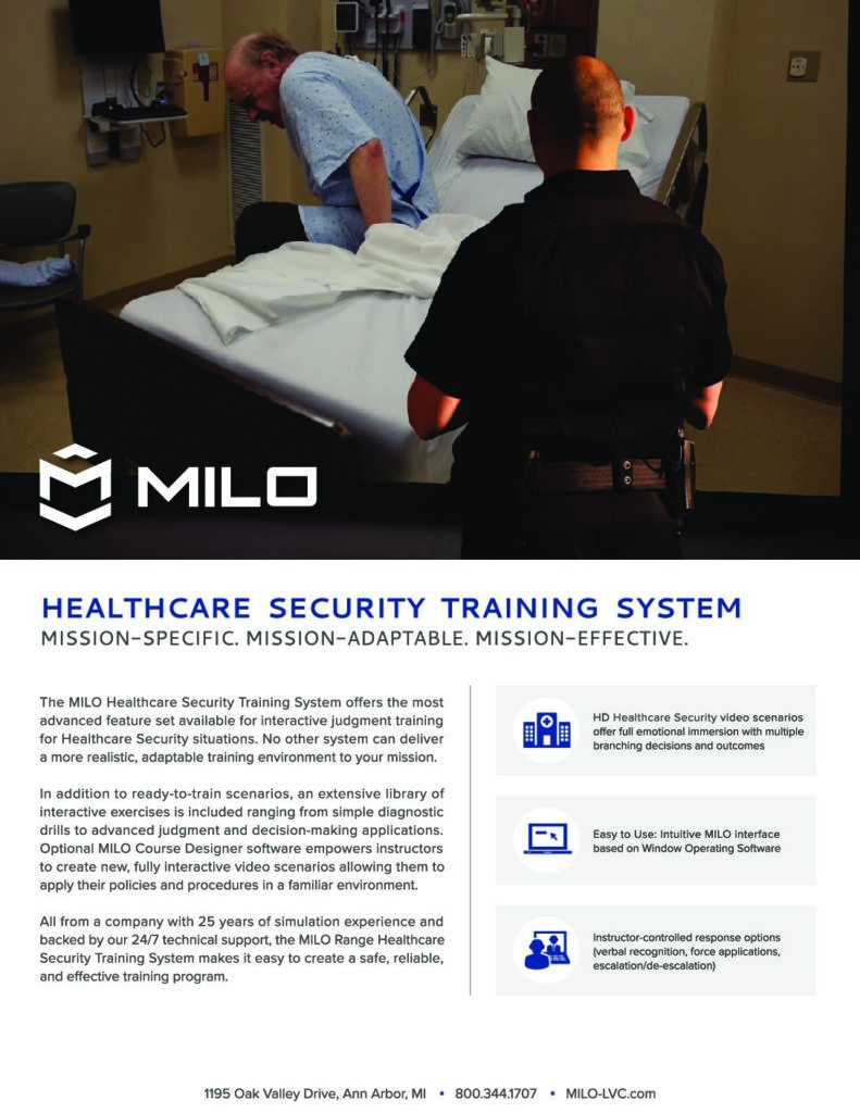Healthcare security and safety training